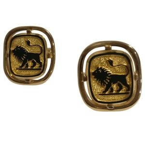 🇨🇦 Vintage Sherman / Senator cufflinks with lion